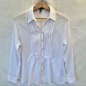 Ralph Lauren white tunic blouse